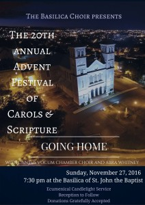 Advent Festival of Carols  Sctripture Poster